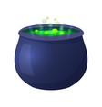 halloween witch cauldron vector image
