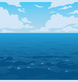 sea or ocean landscape vector image
