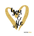 You and me gold vector image
