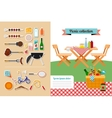 Picnic elements collection vector image