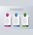 3 steps modern infographic vector image vector image