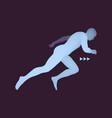 3d running man design for sport business vector image vector image