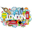 abstract background with hand drawn text london vector image