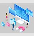 analytics social website targeting digital vector image