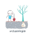 archaeologist is the place where the money is vector image