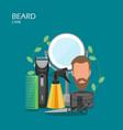beard care flat style design vector image
