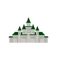 big royal castle medieval palace with towers and vector image vector image