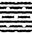 black and white monochrome polka dot and vector image
