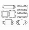 border and frames set collection vector image vector image