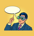 businessman in a mask that protects his eyes vector image