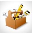 Carpenter toolbox poster vector image vector image