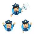 cartoon policeman vector image vector image