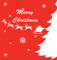Christmas card design with reindeers and Santa vector image vector image
