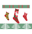 Christmas socks vector image