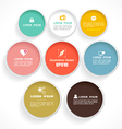 Circle color vector image vector image