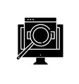 computer search black icon sign on vector image vector image
