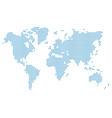 dotted world map world map blue vector image vector image