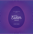 easter egg square banner easter big sale card vector image vector image
