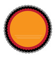empty colombian campaign button vector image vector image