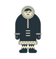 eskimo inuit isolated arctic traditional man of vector image vector image