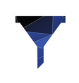 filter icon Abstract Triangle vector image vector image