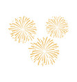 firework design isolated on vector image