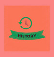 flat shading style icon history lesson vector image vector image