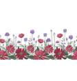 floral seamless border summer flowers