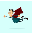 flying businessman superhero vector image