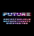 futuristic font design vector image vector image
