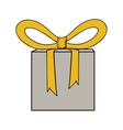 gift box and bow icon image vector image vector image
