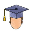graduation man design vector image vector image