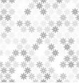 gray snowflake pattern seamless vector image