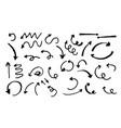 hand-drawn arrows vector image