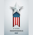 happy 4th july usa independence day fourth vector image vector image