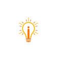 i letter idea logo icon design vector image
