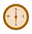 isolated navigation compass icon vector image