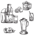 Juicing machines and blender vector image