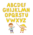 kids school art boy abc alphabet aducation vector image