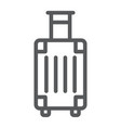 luggage line icon travel and tourism travel bag vector image vector image