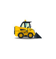 mini loader yellow flat style commercial vector image vector image