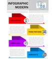 modern minimalist infographic template process in vector image vector image