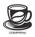 mug of hot coffee logo vector image