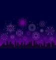 night city fireworks festive christmas vector image vector image