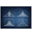Normal Distribution Diagram on Blackboard vector image vector image