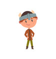 northern european boy in national clothes kid vector image vector image