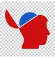 Open Brain Icon vector image