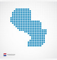 paraguay map and flag icon vector image vector image