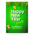 poster of happy new year greetings card with vector image vector image