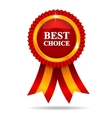 Red best choice medal vector image vector image